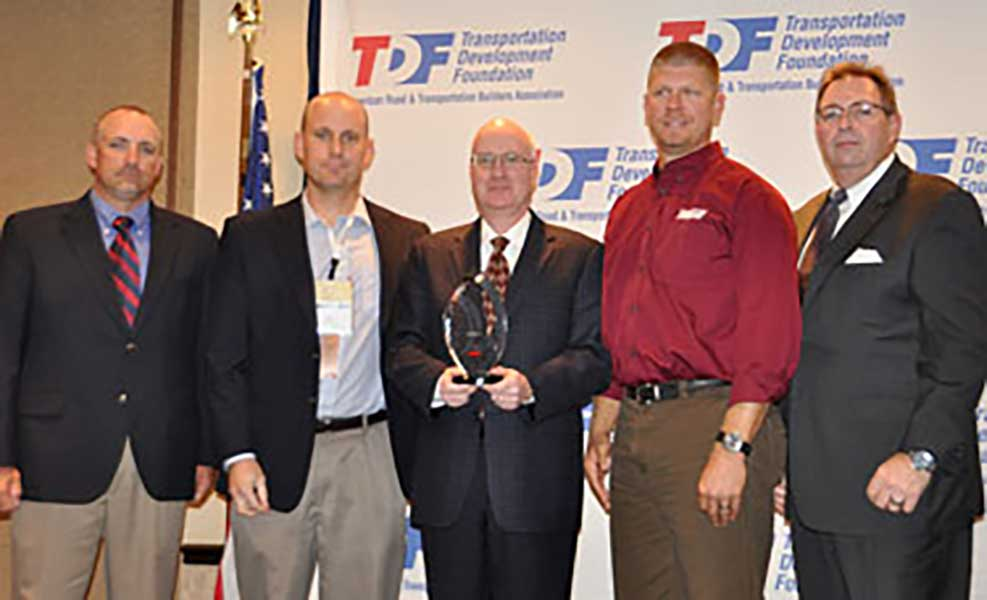 Wagman employees receive ARTBA CNA Safety Award