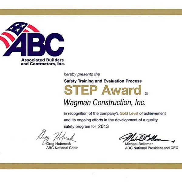 2013 Gold Level STEP Award