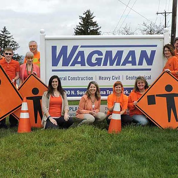 Wagman Corporate Office staff during Work Zone Safety Week
