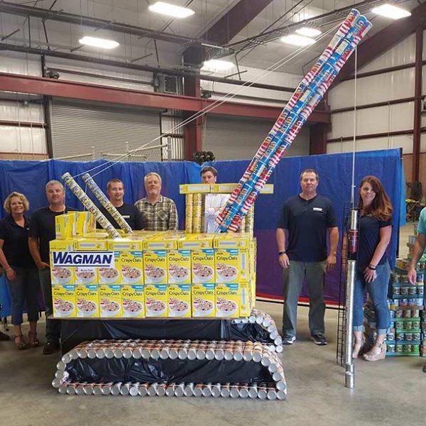 2017 Can-Struction winners Dinwiddie, VA team