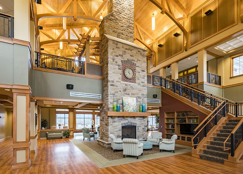 Interior of The Lodge at Homewood at Willow Ponds
