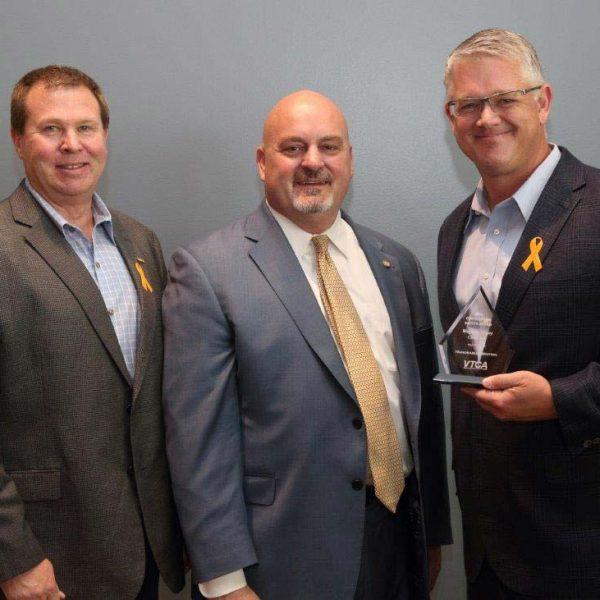 David Lyle and Greg Andricos accept VTCA Award