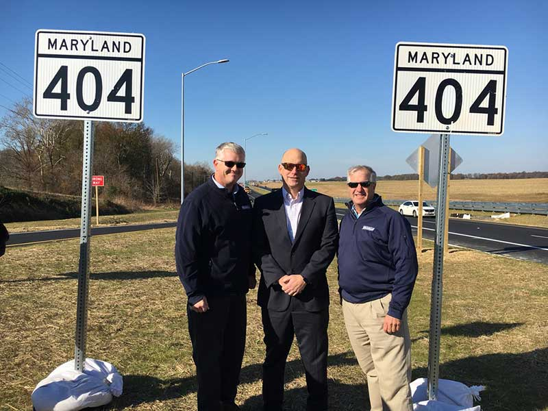 Greg Andricost, Mike Glezer, and Anthony Bednarik at MD 404 Ribbon Cutting