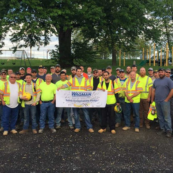 Wagman employees during National Construction Safety Week