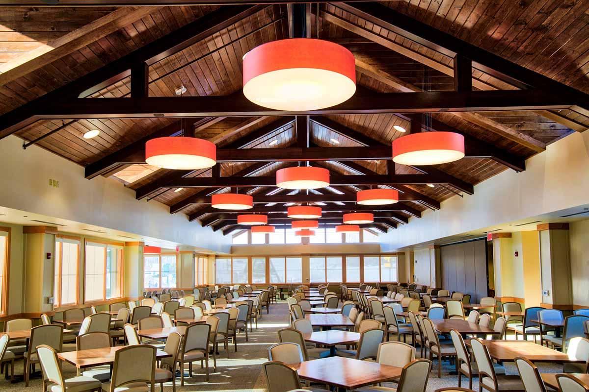 Interior of Base Lodge Expansion at Whitetail Resort