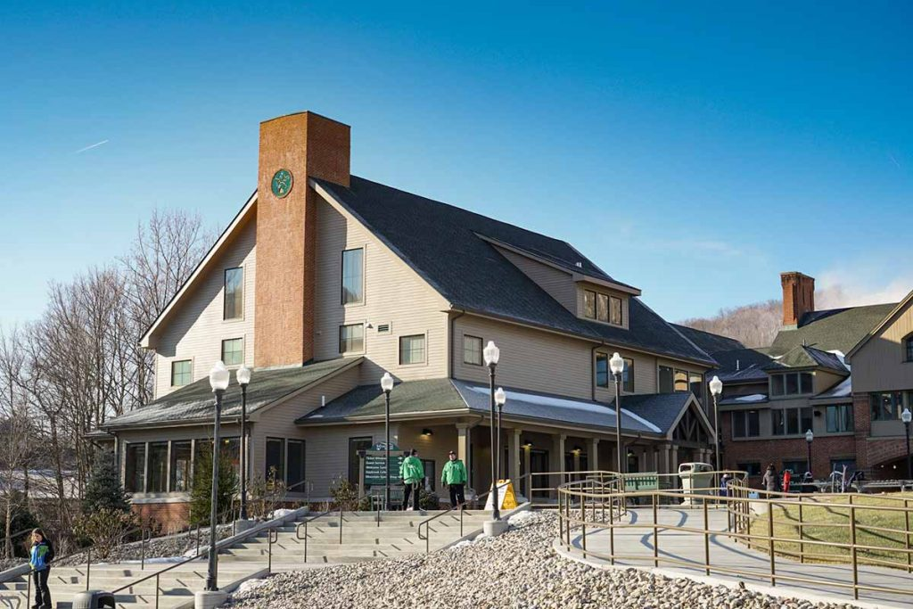 Exterior of Base Lodge Expansion at Whitetail Resort