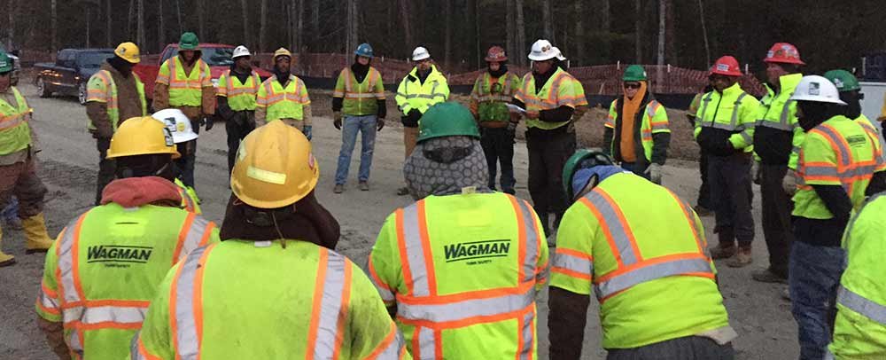 Wagman Project Site Safety Huddle