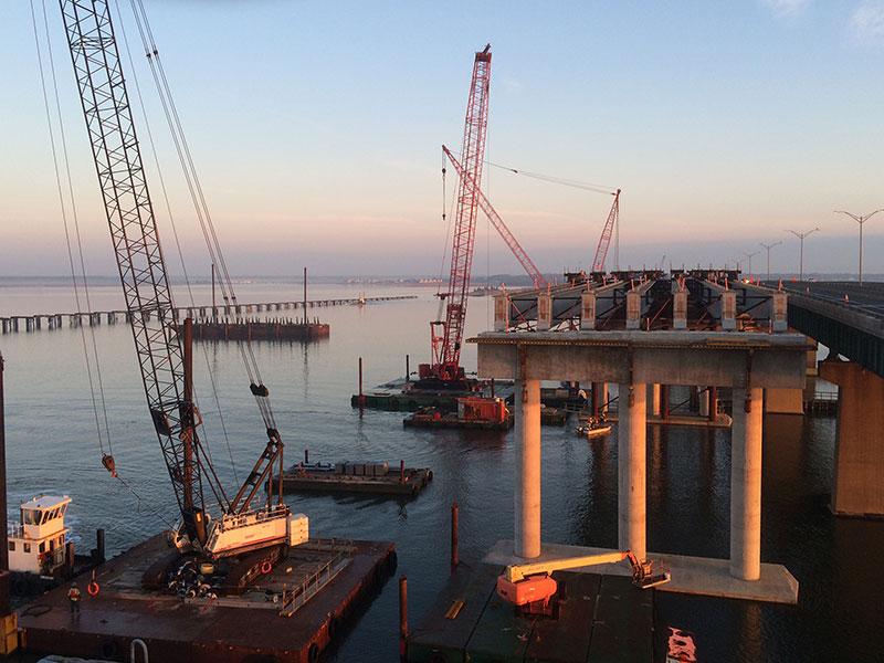 Wagman Marine Construction on Egg Harbor Bridge