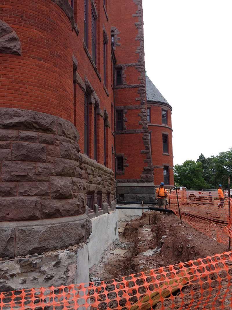 Gettysburg College Glatfelter Hall Underpinning