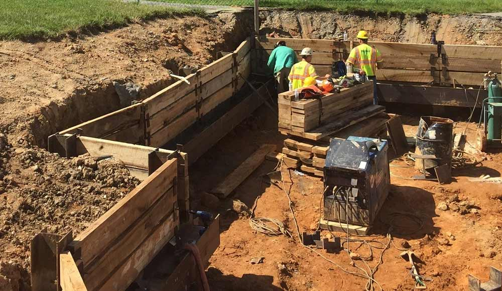 Wagman Geotechnical Services Pile and Lagging Walls at Blakehurst project