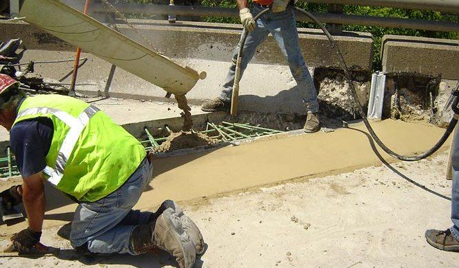 Wagman Rapid Set Concrete application