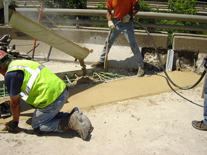 Wagman Rapid Set Concrete application