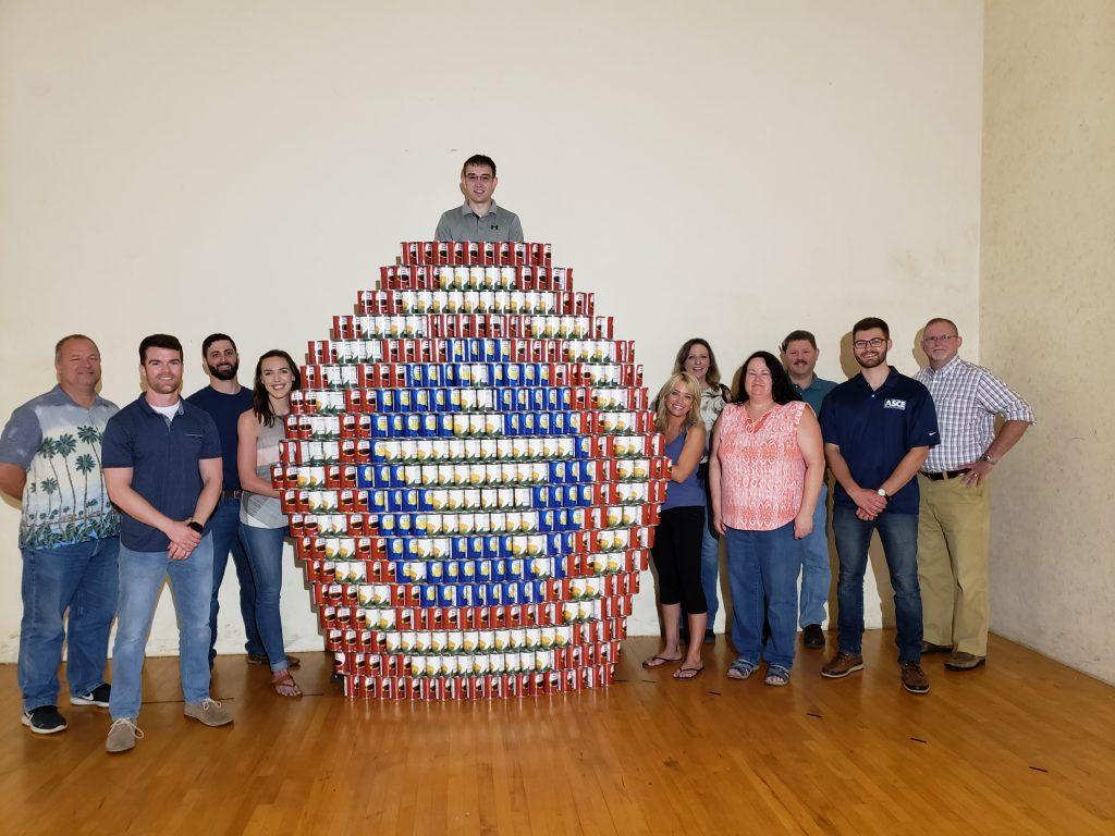 Wagman CanStruction Food Drive Winners