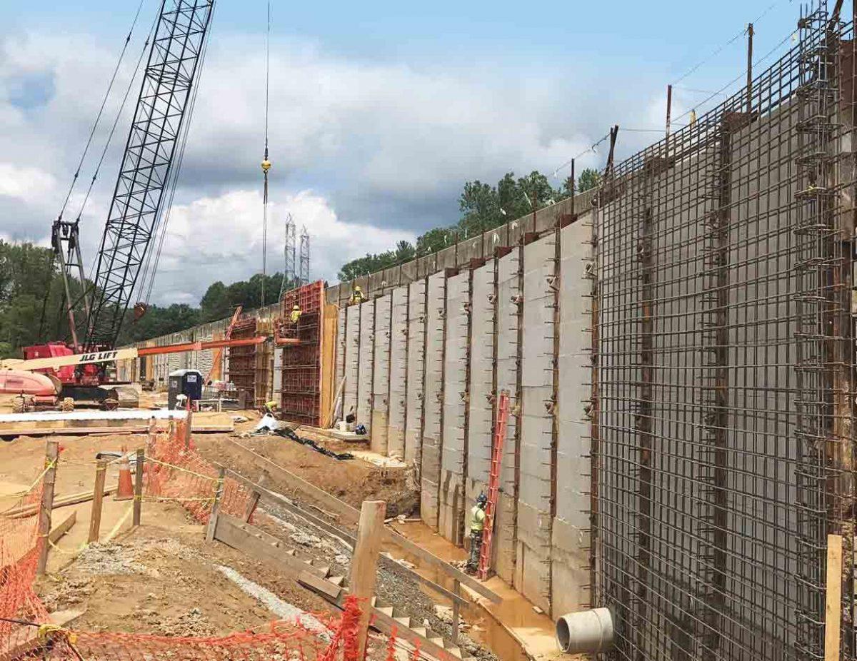 Watkins Mill Tieback Wall