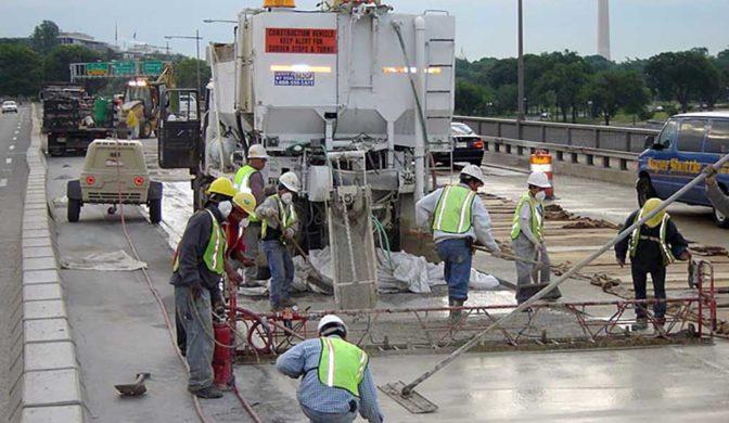 Wagman Rapid Set Latex Modified Concrete application