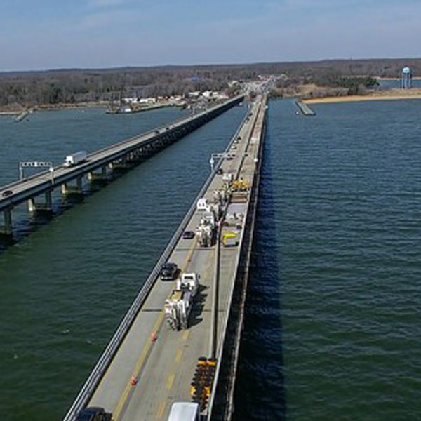 Westbound Chesapeake Bay Bridge